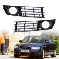 DWCX 8E0807681 8E0807682 2pcs Front Left Right Insert Bumper Fog Light Grille Protective Mesh For Audi