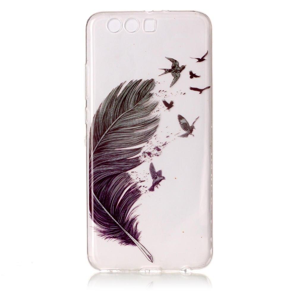 Cute Transparent Soft TPU Phone Cases For Huawei P10 Plus VKY-L09 Dual SIM Printing Capas Covers For HUAWEI P10Plus Full Housing