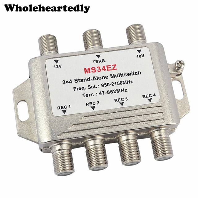MultiSwitch lnb Satellite Splitter FTA TV LNB Multi Switch Cascade Sate llite 3 in 4 Out Multiswitch For DVB-S2 DVB-T2