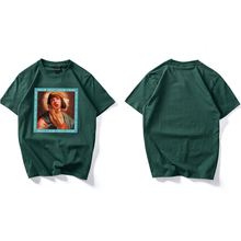 2019 Streetwear Green Virgin Mary Printed Men Women T-Shirts  Summer New Fashion Hip Hop Short Sleeve Funny Tops Couple Tees