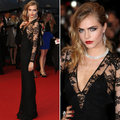 Sexy Cara Delevingne Celebrity Dresses Lace Deep V Neck Long Sheath Black Red Carpet Dresses For Sale Vestido De Casamento 2017