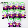 10pcs/lot DC Comics The Joker Harley Quinn Mini 11.5cm Plush Dolls with Chain Stuffed Soft Toys Kids Gift Pendants Ring AP0008