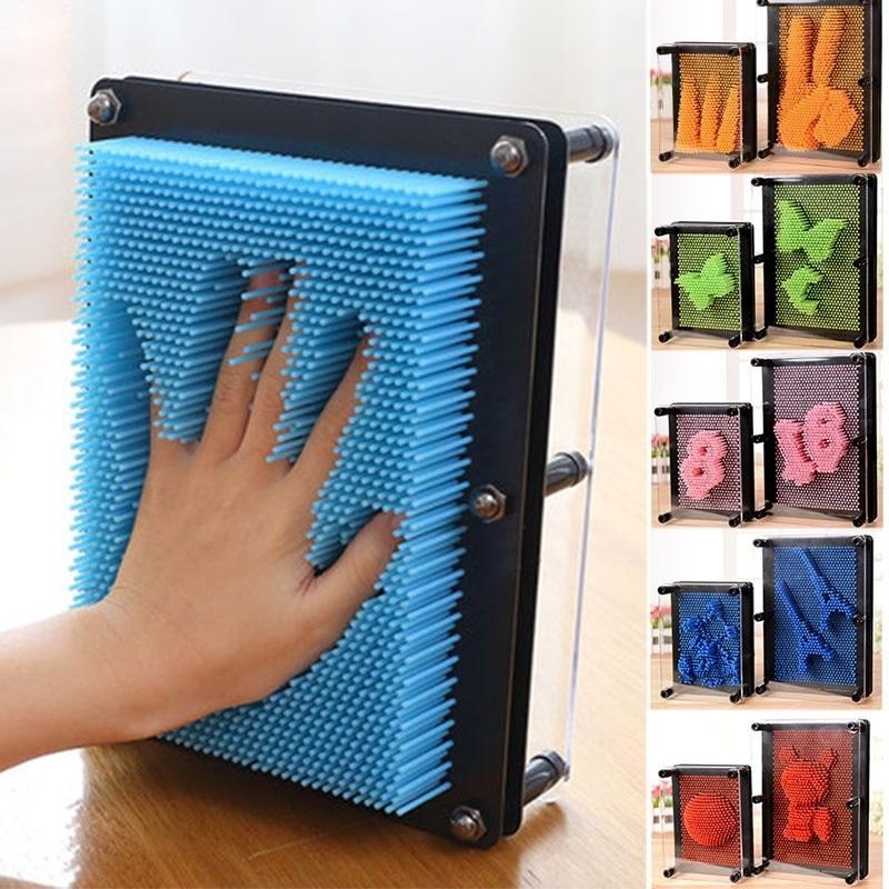 1 piece 3D Clone Pin Plastic Art Game Funny Pinart Shape Shoumo Colorful Needle Child Model Palm Facial