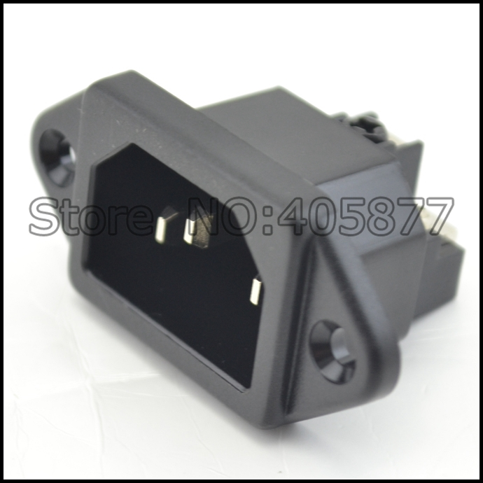 2pcs rhodium plated IEC inlet Mains Power Inlet Socket Male Panel Entry Plug HiFi