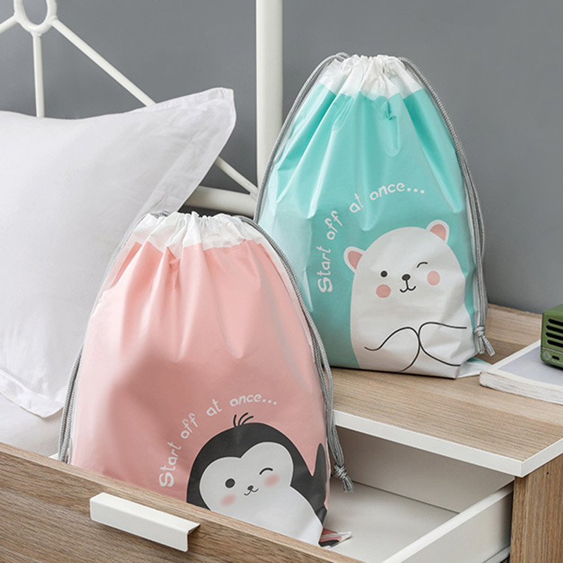 Matte beam mouth drawstring bag towel storage rope plastic bag
