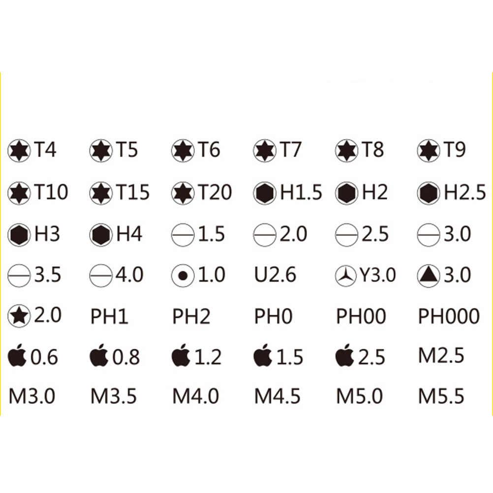 45 в 1 Набор Магнитных отверток многоцелевой прецизионный набор магнитных отверток для телефона инструменты для ремонта компьютера