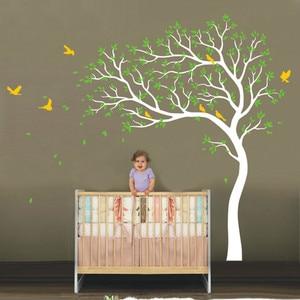 Image 2 - Grande árvore ramos adesivo de parede pássaros decoração do berçário removível vinil decalques da arte da parede pvc adesivos para o quarto do bebê crianças decoração de casa