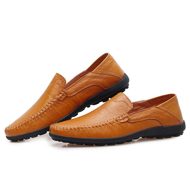 Los hombres de Cuero Genuino Zapatos Mocasines Moda Transpirable Zapatos de Los
