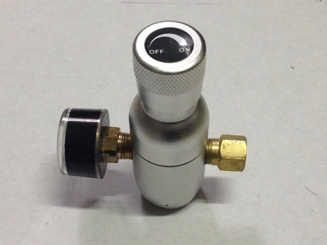 Premium Regulated Compact CO2 Injector, 0~60 psi, Anodised Aluminium Body