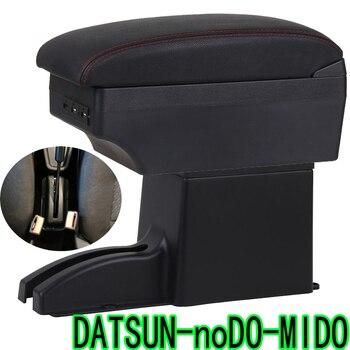 Para datsun on-ne caixa de apoio de braço datsun mid-ne usb universal carro braço armazenamento central boxaccessories