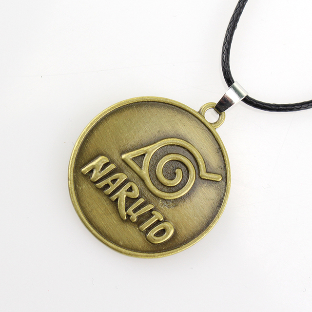 Naruto Pendant Necklace Eyes Bronze Charm Vintage Necklace Jewelry Gift
