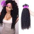 Melhor Não Transformados Grau 10A Indiana Curly Virgem Cabelo Weave 3 Pçs/lote Barato Indiano Virgem Extensões Do Cabelo Kinky Curly Virgem Cabelo