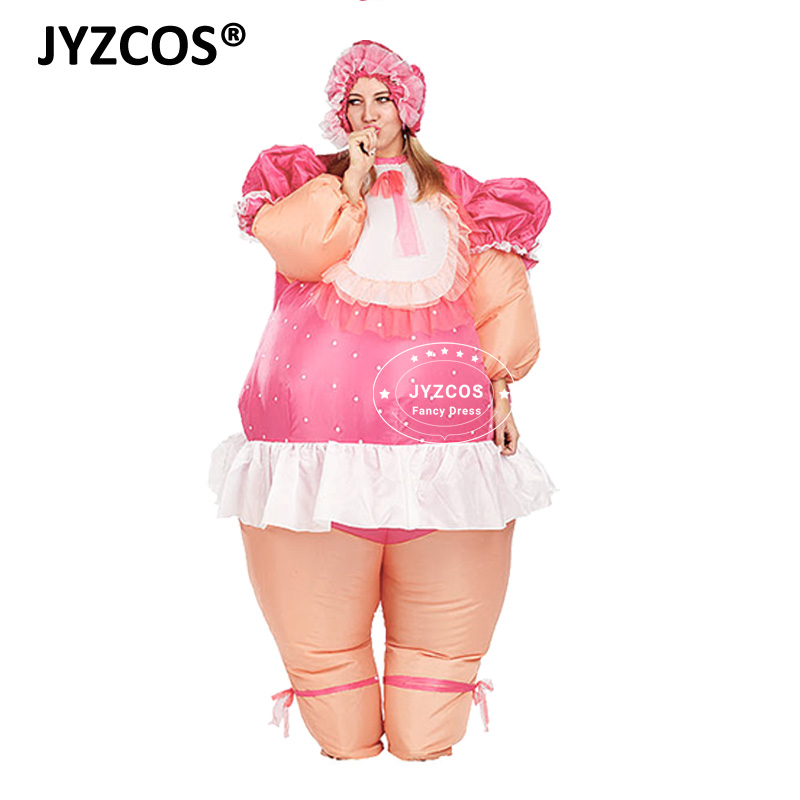 JYZCOS baby doll costume inflatable costume baby cosplay suit celebrate baby birth party fancy dress air blown outfit promotion