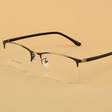 Alloy Glasses Frame Men Women Half Myopia Spectacle Optical Frames Vintage Classic Unisex Eyewear Oculos de Grau