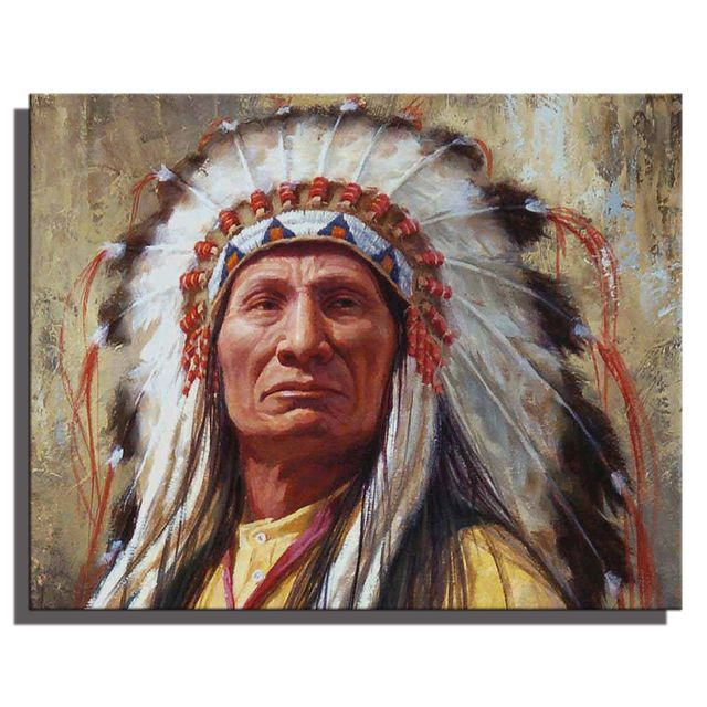 Vintage Home Decor Wall Art Native American Paintings ...
