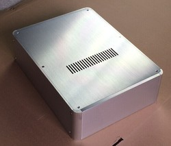 BZ2409H  Silver Front Full Aluminum DAC Enclosure / Big Amplifier case / Preamp Box /amplifier Chassis