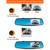 Universal 4.3 de Polegada Dual Lens Gravador De Vídeo Traço Cam Espelho Retrovisor Câmera Do Carro DVR Câmera de Visão Traseira G-Sensor RM-LC2010