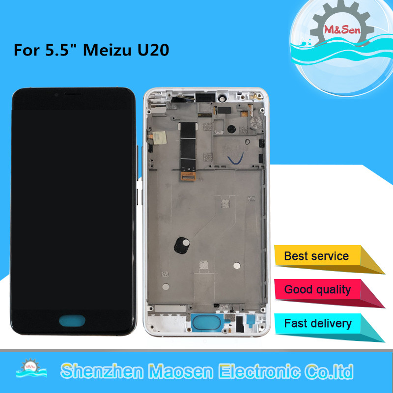 M&Sen For 5.5 Meizu U20 LCD Screen Display With Frame+Touch Panel Digitizer Assembly For Tested Meizu U20 DsiplayM&Sen For 5.5 Meizu U20 LCD Screen Display With Frame+Touch Panel Digitizer Assembly For Tested Meizu U20 Dsiplay