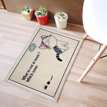 Cartoon mats door mat absorbent non-slip mats carpet custom foyer carpet