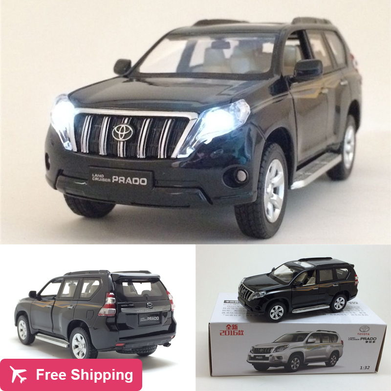 High simitation 1:32 TOYOTA LAND CRUISER PRADO Alloy Metal Car Model Toys With Pull Back For Kids Birthday Gifts free shipping