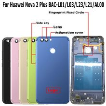 100% Orig New For Huawei Nova 2 Plus BAC-L01 BAC-L03 BAC-L23 BAC-L21 BAC-AL00 Rear Back Door Housing Battery Door Cover + Lens(China)