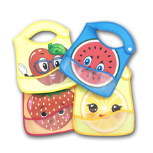 Baby Bib Waterproof Lunch Feeding Bibs  Cute Cartoon Cloth Towels Children Long Sleeve Apron Burp Clothes