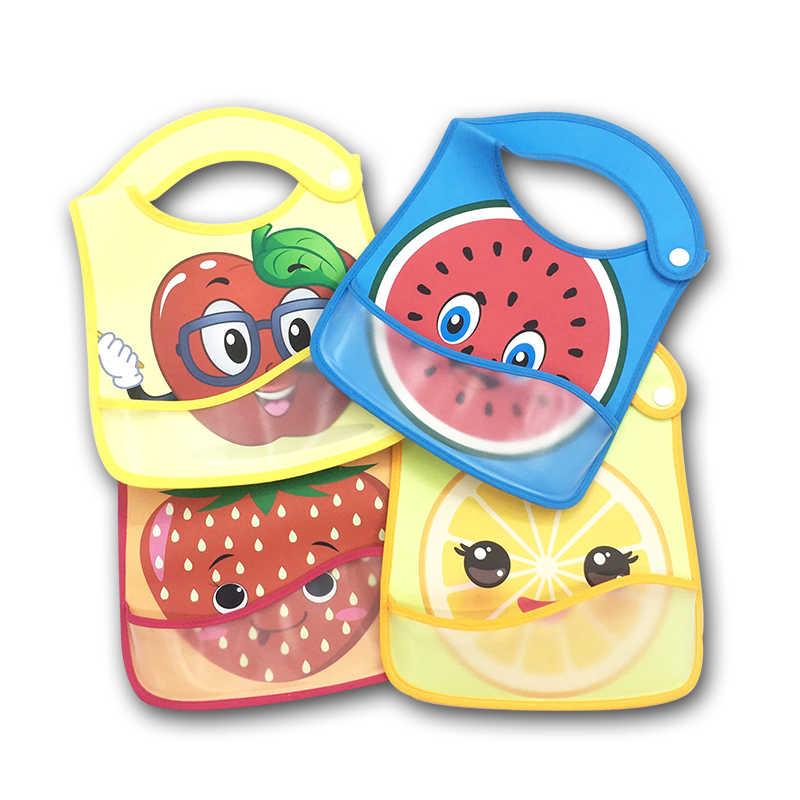 Bebé babero impermeable almuerzo alimentación Baberos del bebé babero de dibujos animados de alimentación de tela de manga larga niños delantal eructo ropa