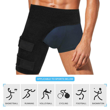 Adjustable Groin Support Men Women Compression Sport Thigh Waist Wrap Strap Hip Stability Brace Protector цены онлайн