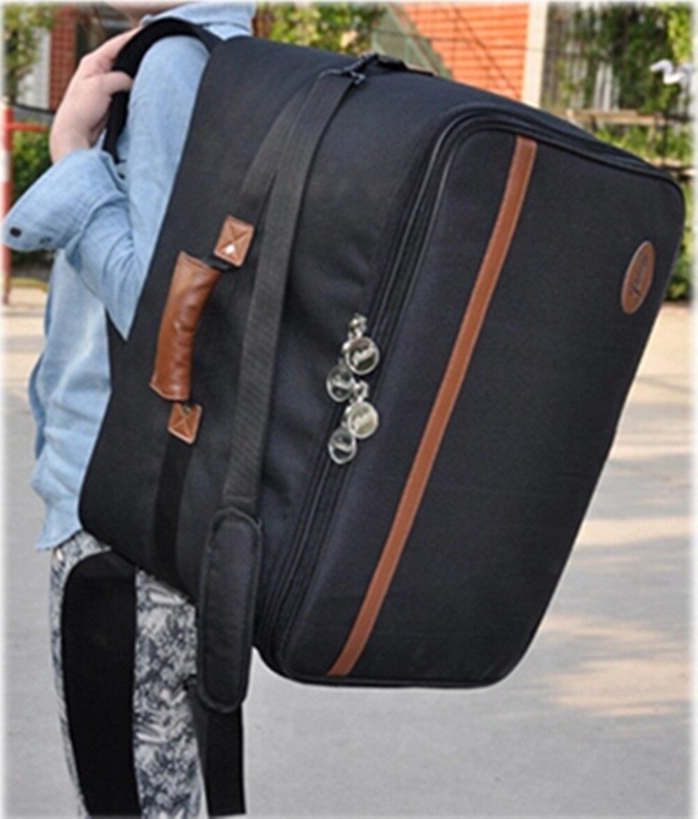 En gros professionnel portable plus épais étanche Cajon en bois tambour sac instruments cas doux gig rembourré sac à dos sangles rembourrées