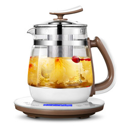 Fully automatic and thickened glass multi-functional electric tea kettle black boiling
