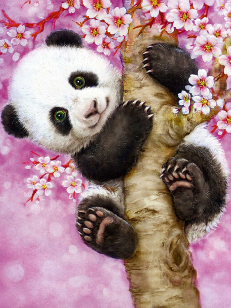 A1193 Dekorimi në shtëpi Mozaik 3DIY Ngjitje Panda 100% Resin - Arte, zanate dhe qepje - Foto 1