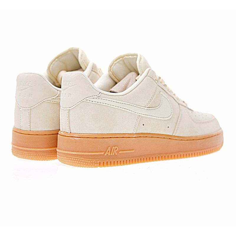 US $74.46 49% OFF|Nike Air Force 1 AF1 for Men and Women Skateboarding Shoes , Beige, Non slip Shock Absorbing Abrasion resistant AA0287 600 in