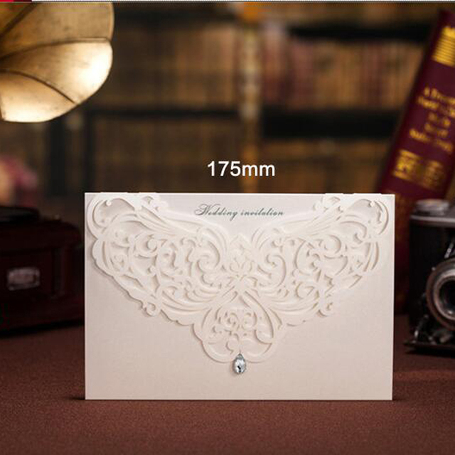 1pcs Sample White Laser Cut Luxury Wedding Invitations Card Elegant ...