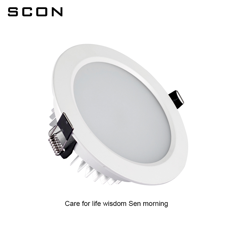 Image 3 - SCON 2.5inch 5W AC110 240V living Room Round waterproof LED Mini downlight CRI RA>85 OSRAM Recessed Ceiling lamp indoor light-in LED Downlights from Lights & Lighting