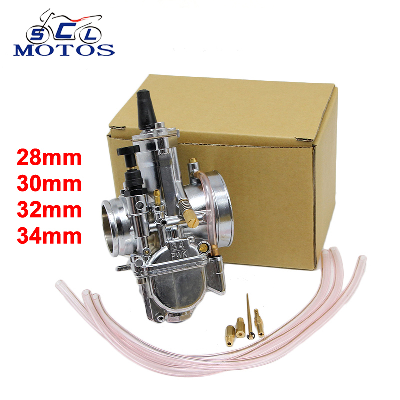 sports shoes a5ab0 d3098 Sclmotos -Motorcycle Carburetor 28 30 32 34mm PWK OKO Carb With Power Jet  Fit Race Scooter ATV Racing For 4T Engine Power