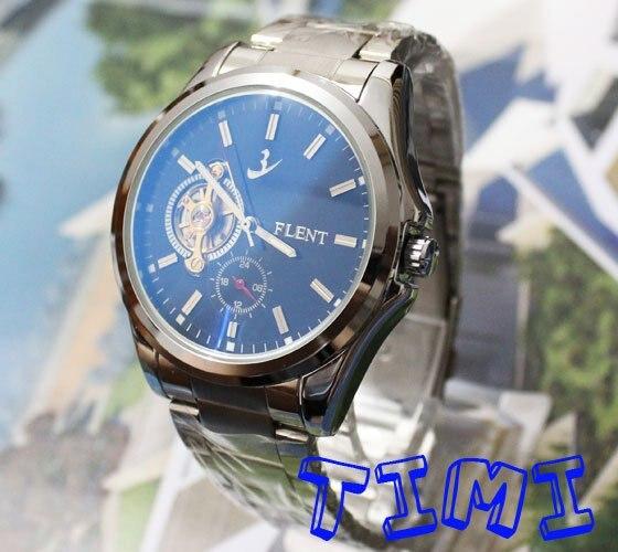 где купить Xmas Gift AUTO Mechanical Tourbilon Blue Dial Mens Watch по лучшей цене