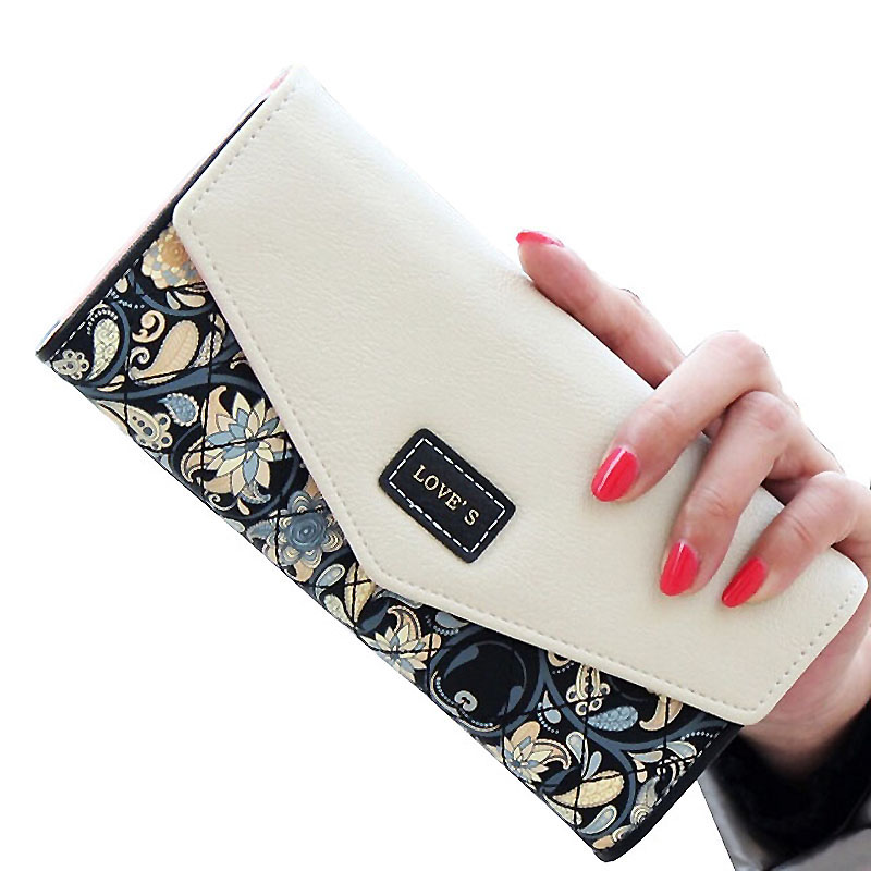 Wallet Women Purse Women Wallet Female Long Wallets Luxury Designer Brand Purses Womens Card Holder Coin Clutch Flower Envelope ...