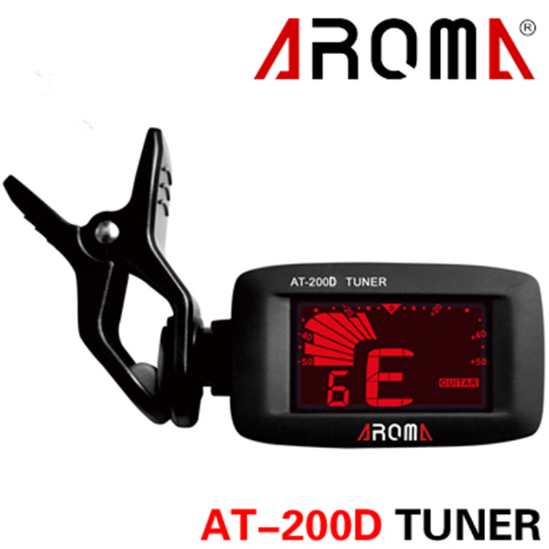 Aroma AT-200D High Quality Clip On Guitar Tuner Portable Universal Digital Tuner for Chromatic Guitar Bass Ukulele Violin