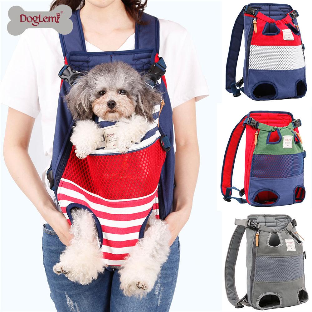 Pet Dog Cat Carrier Backpack Front Chest Portable Bags Outdoor Tote Bag Sling Holder Mesh Puppy