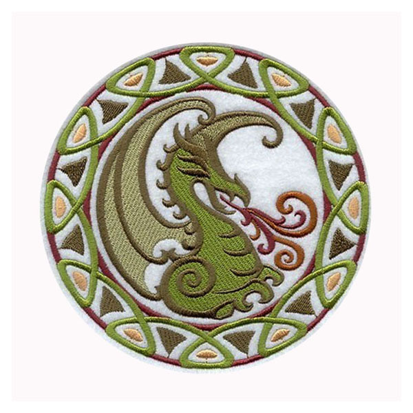 Celtic Dragon (Applique) Embroidered Patch , Sew Or Iron On Your Choice Customized Design Is Welcome For Us