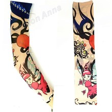 Dropshipping 1Pcs Mixed Nylon Elastic Fake Temporary Tattoo Sleeve Designs Body Arm Stockings Tatoo For Cool Men Women