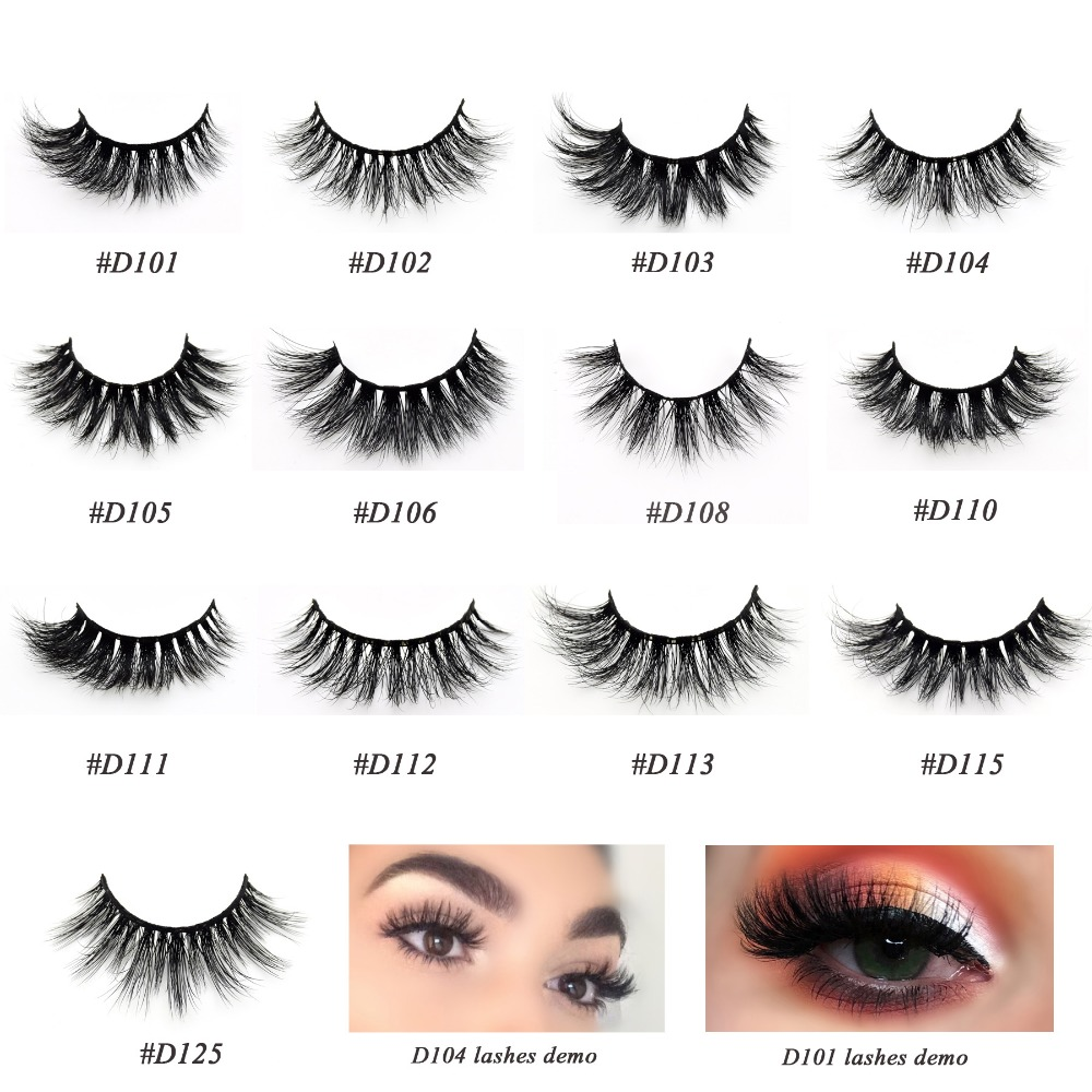 Visofree 3D Mink Lashes Eyelash Extension 100% Handmade Thick Volume Long False Lash Makeup Giltter Packing 1 Pair D110