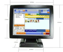 15-inch cash register terminal end machine 15 inch pos touch all in one pc pos system
