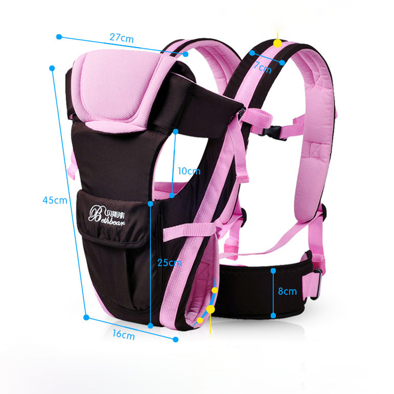 Beth Bear 0-30 Months Baby Carrier Ergonomic Kids Sling Backpack Pouch Wrap Multifunctional
