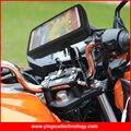 Smartphone gps moto vespa de la motocicleta del montaje del manillar de soporte resistente al agua para samsung note 4, samsung s5, meizu mx5