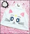 2016 harajuku unif omighty kawaii bonito Sailor Moon luna cat imprimir croptop mulheres camis cropped tanque halter top de algodão branco