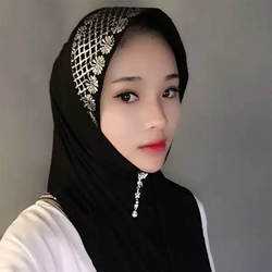 Модные ислам женский шарф хлопок легко носить печатных мусульманский хиджаб для женские головные уборы девушки кепки