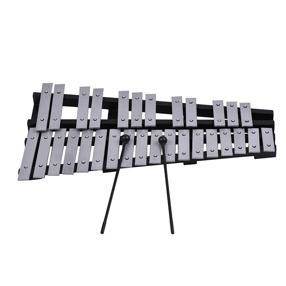 Pliable 30 Note Glockenspiel Xylophone cadre en bois barres en aluminium éducatif Percussion Instrument de musique cadeau - 4