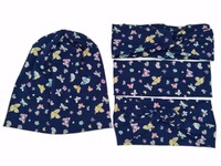 S1850017 Newest set good stretch cotton fashion Butterfly print headwear, charming and comfortable head bands headband