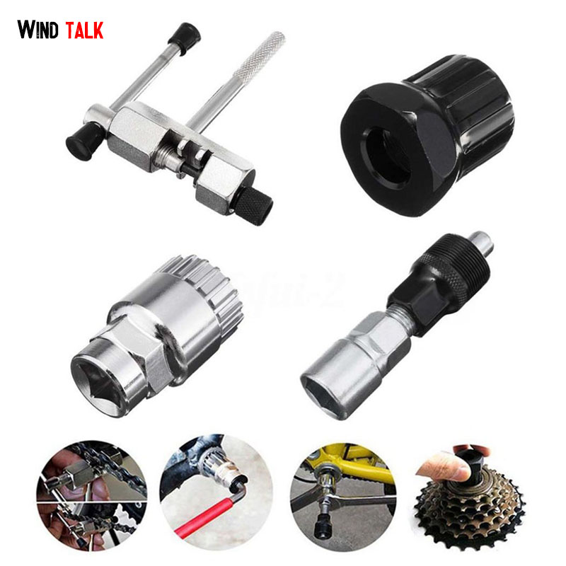 Wind Talk 4 PCS Bicycle Bike Repair Tool Cycling Bicycle MTB Bike Crank Wheel Bottom Bracket Remover Multifunction Tools Set